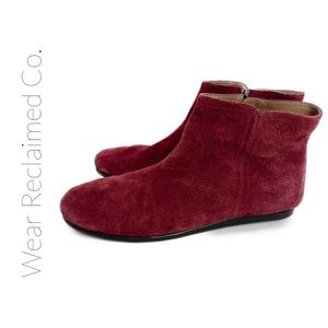 Aerosoles Willingly Suede Maroon Ankle Boots